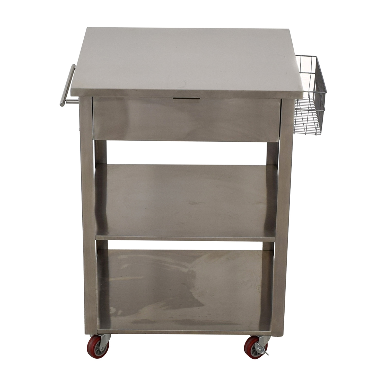 Crosley Furniture Crosley Furniture Stainless Steel Kitchen Cart silver