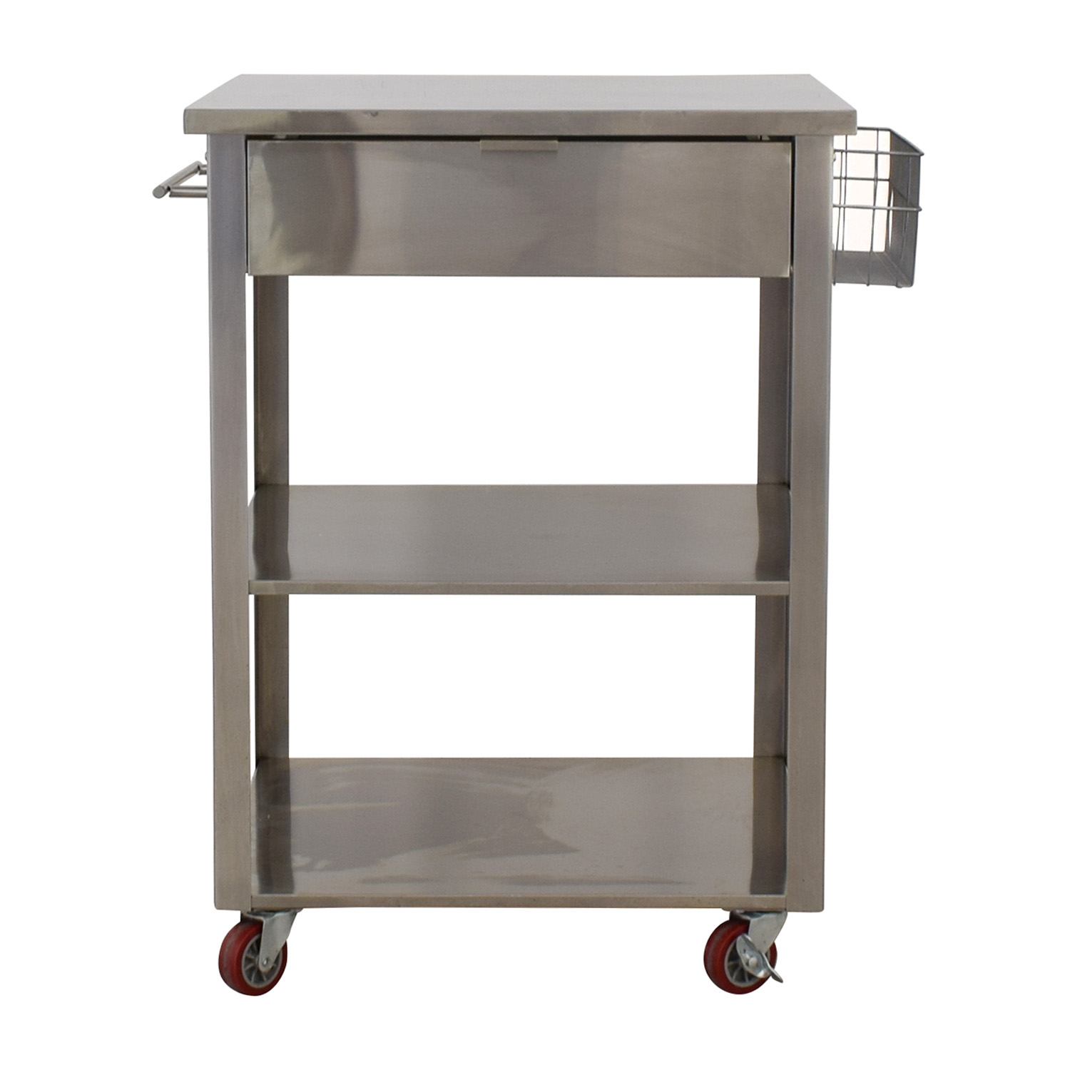 shop Crosley Furniture Crosley Furniture Stainless Steel Kitchen Cart online