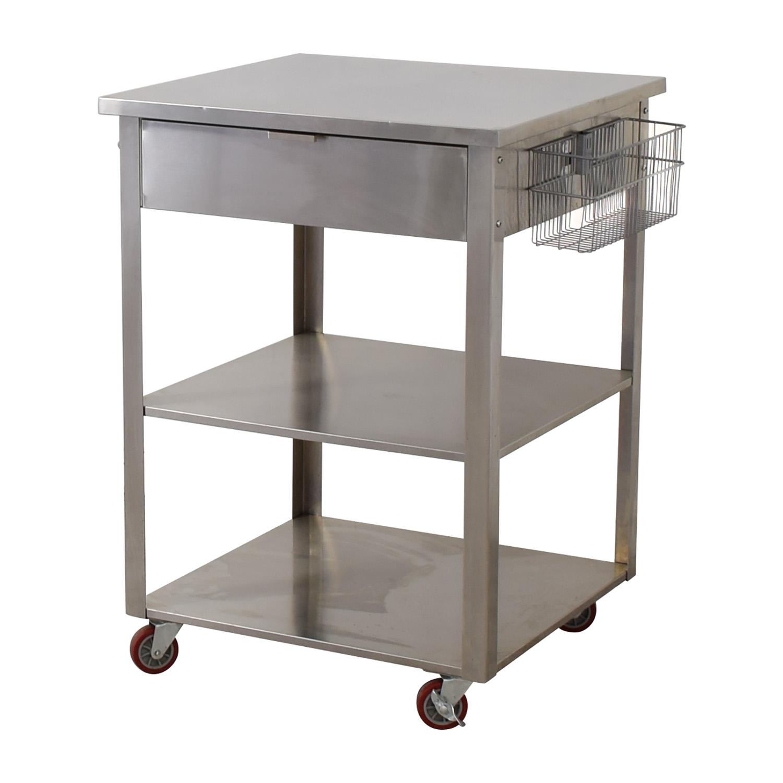 Crosley Furniture Stainless Steel Kitchen Cart sale