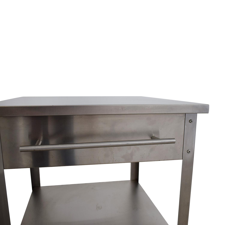 Crosley Furniture Crosley Furniture Stainless Steel Kitchen Cart discount