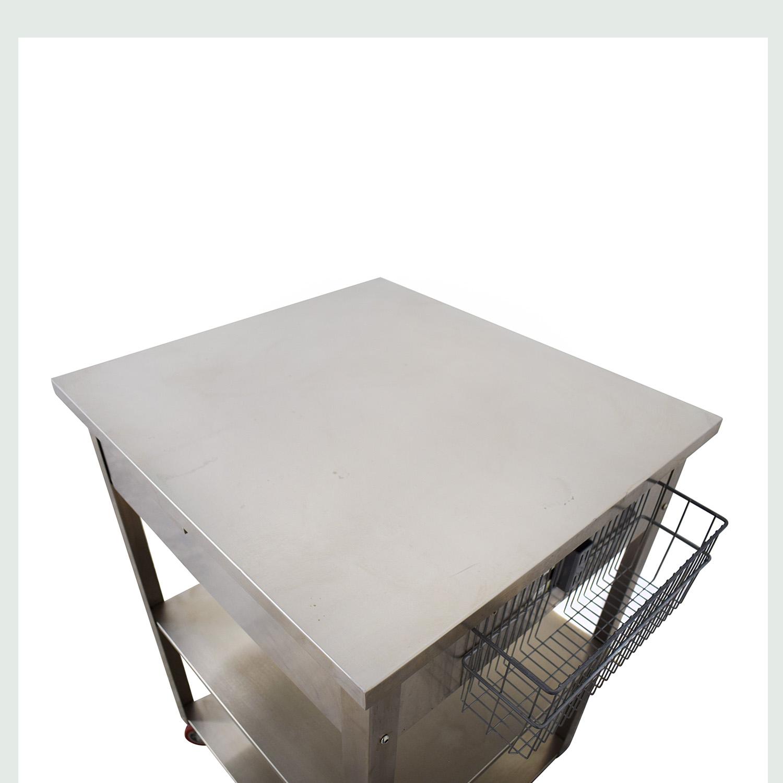 buy Crosley Furniture Crosley Furniture Stainless Steel Kitchen Cart online