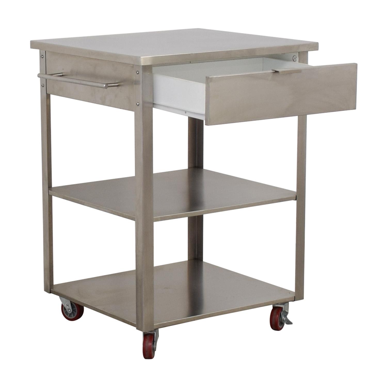 Crosley Furniture Crosley Furniture Stainless Steel Kitchen Cart