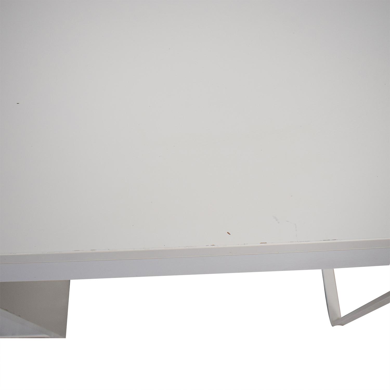 shop White Desk with Side Cabinet  Home Office Desks