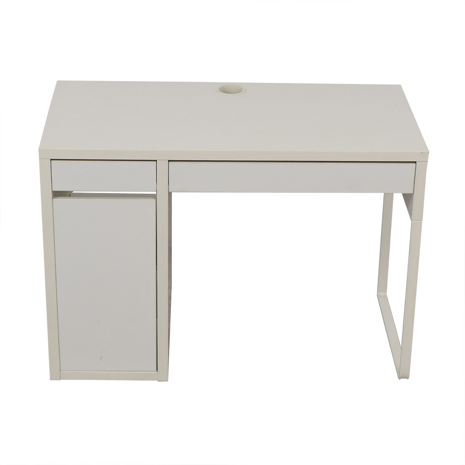 shop White Desk with Side Cabinet