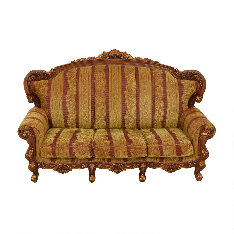 Wood and Fabric Sofa used