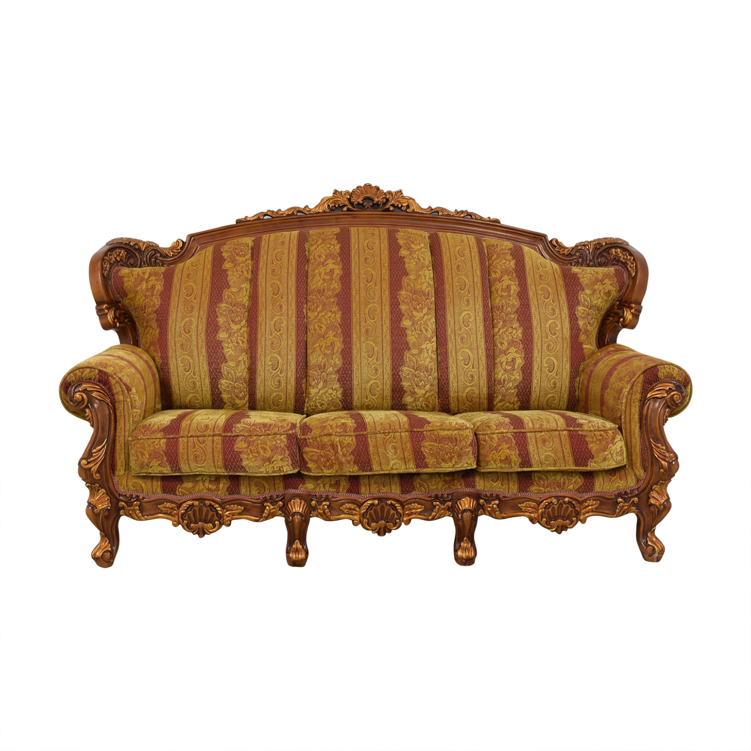 shop  Wood and Fabric Sofa online