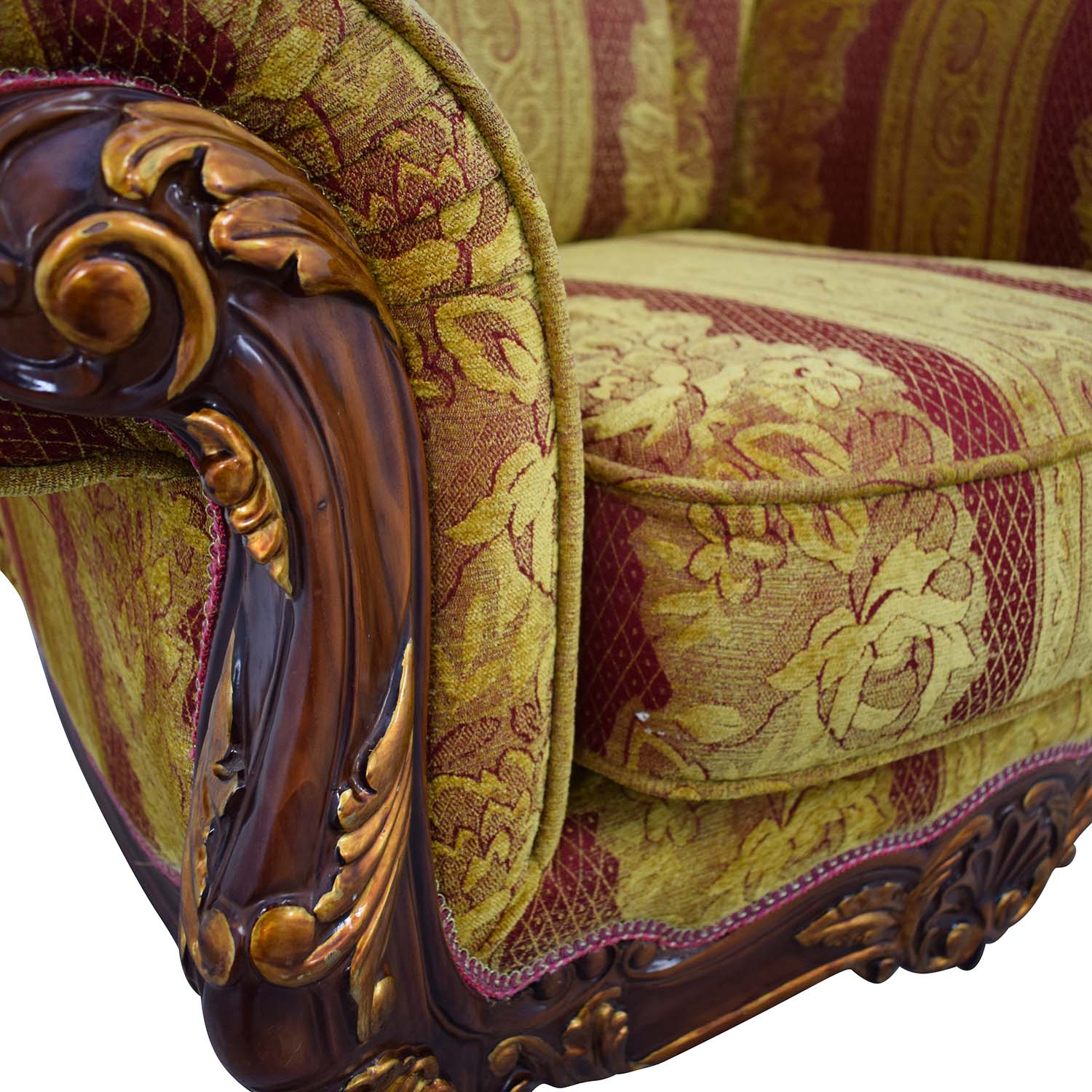 shop Wood and Fabric Sofa Chair