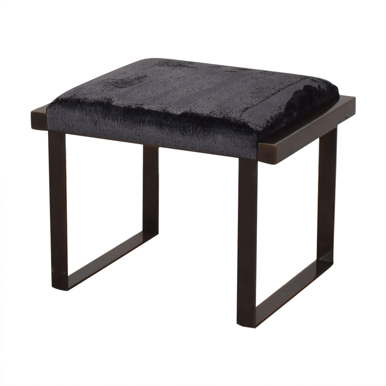 buy Douglas Jennings Upholstered and Iron Bench Douglas Jennings