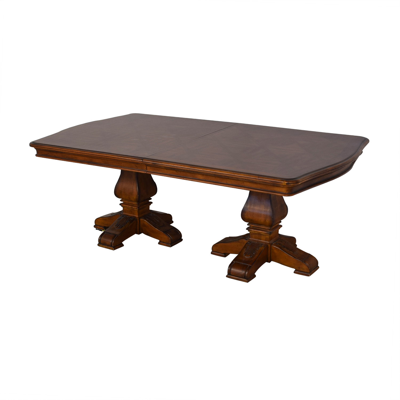Ethan Allen Ethan Allen Wooden Pedestal Dining Table for sale