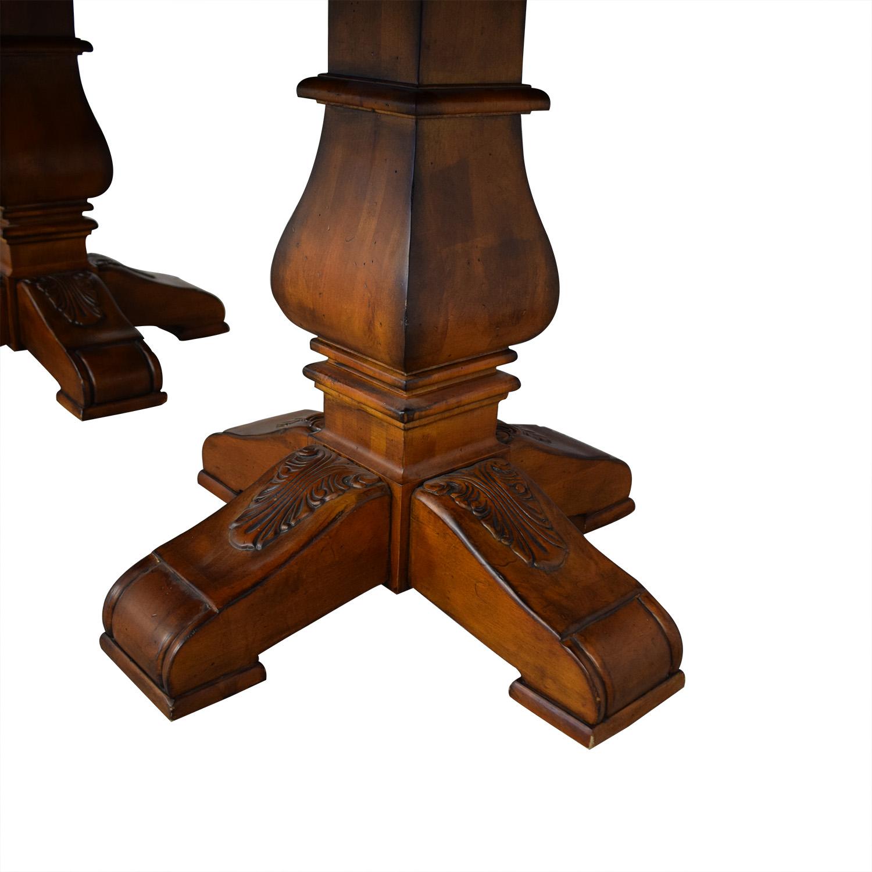Ethan Allen Ethan Allen Wooden Pedestal Dining Table discount
