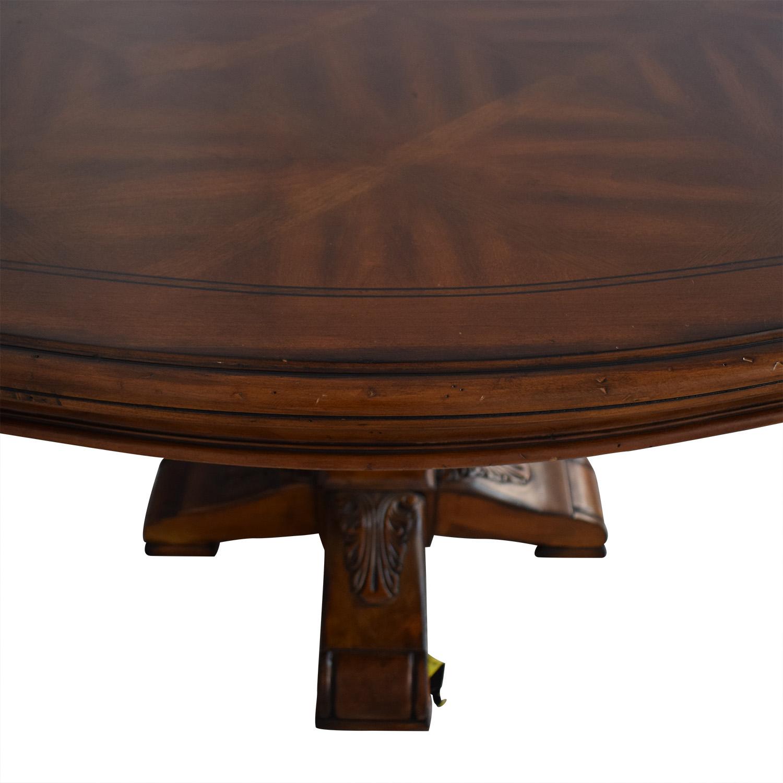 Ethan Allen Ethan Allen Wooden Pedestal Dining Table dimensions