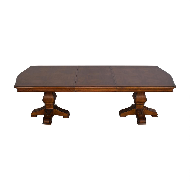 Ethan Allen Ethan Allen Wooden Pedestal Dining Table Tables