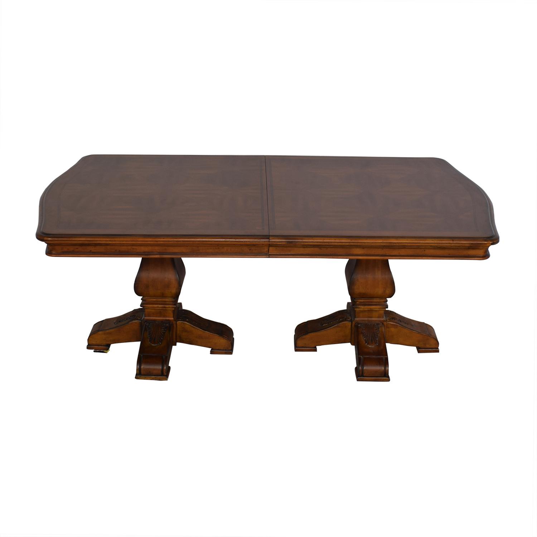 buy Ethan Allen Wooden Pedestal Dining Table Ethan Allen