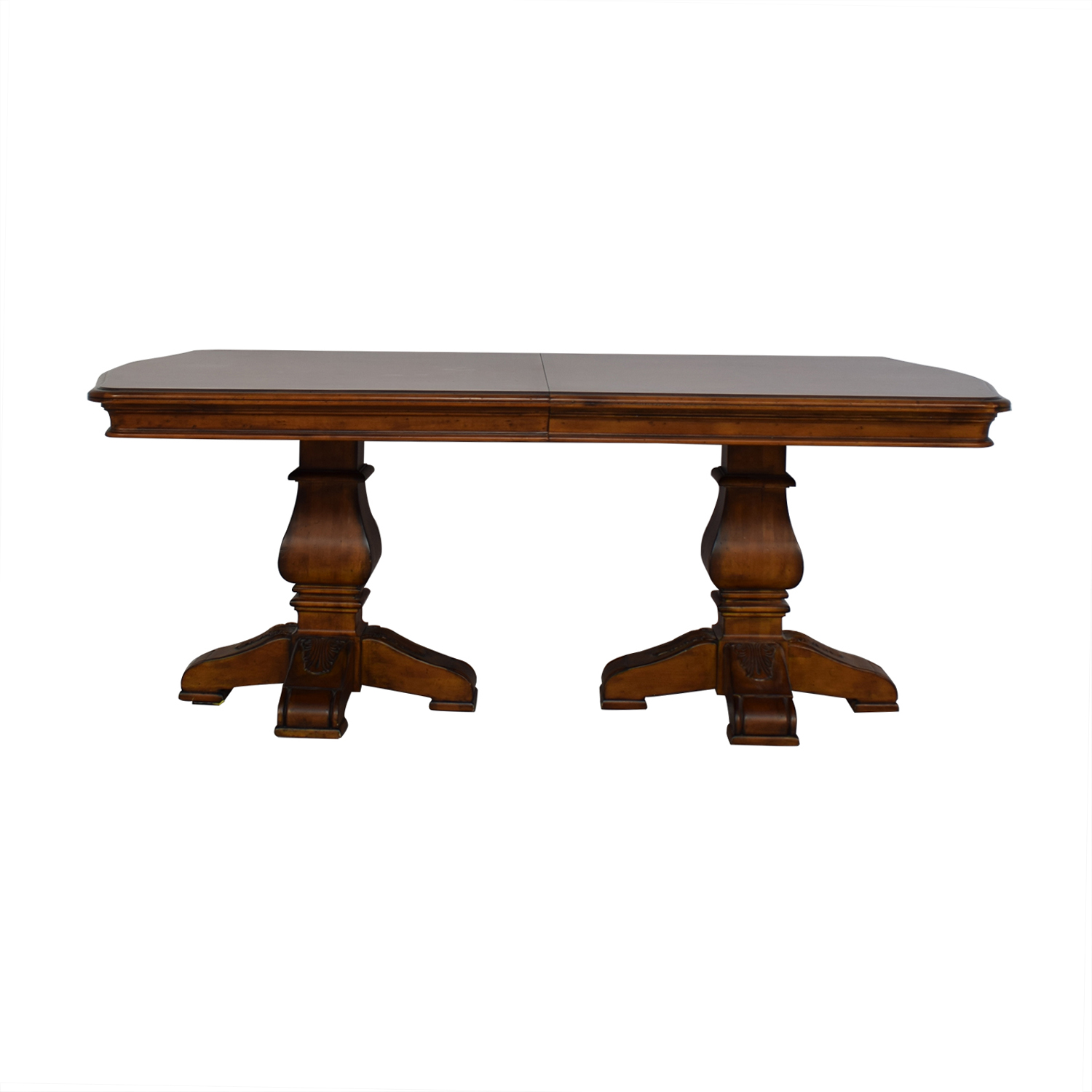 Ethan Allen Wooden Pedestal Dining Table / Dinner Tables