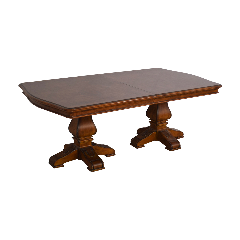 buy Ethan Allen Ethan Allen Wooden Pedestal Dining Table online