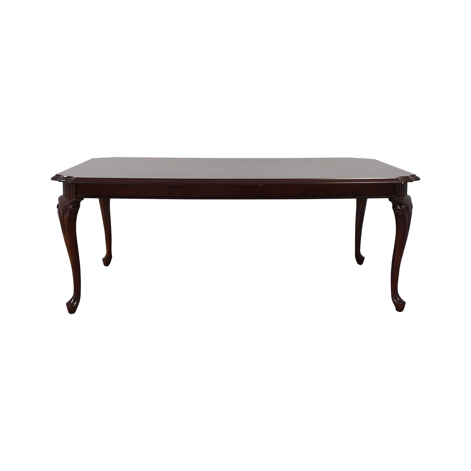 Dining Table with Cabriole Legs dark brown