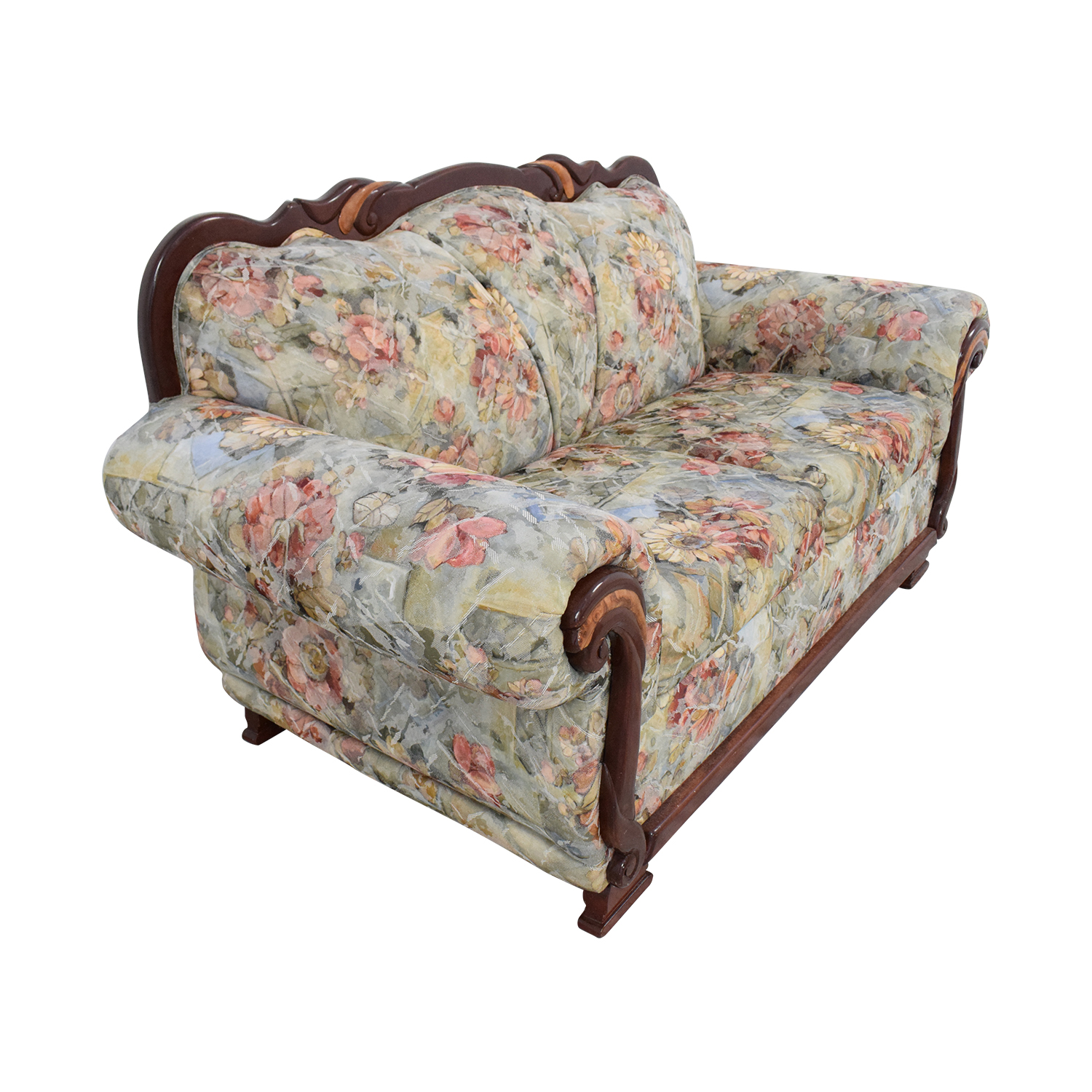 Floral Upholstered Loveseat sale