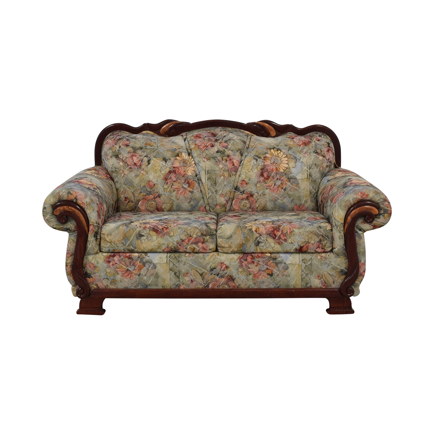 Floral Upholstered Loveseat dimensions