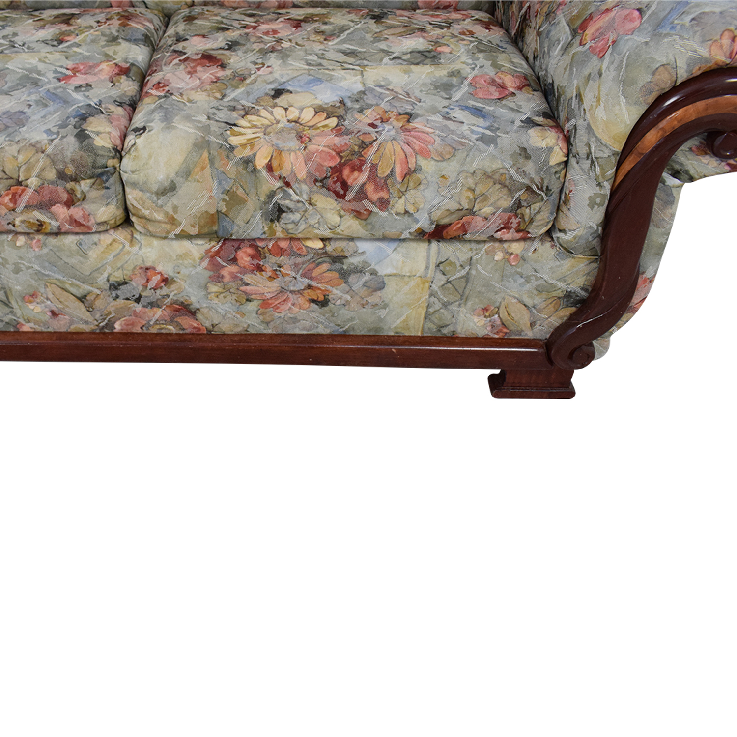 Floral Upholstered Loveseat second hand