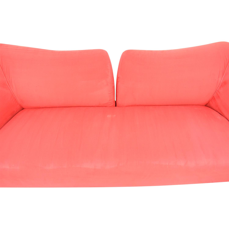 Red Split Back Sofa for sale