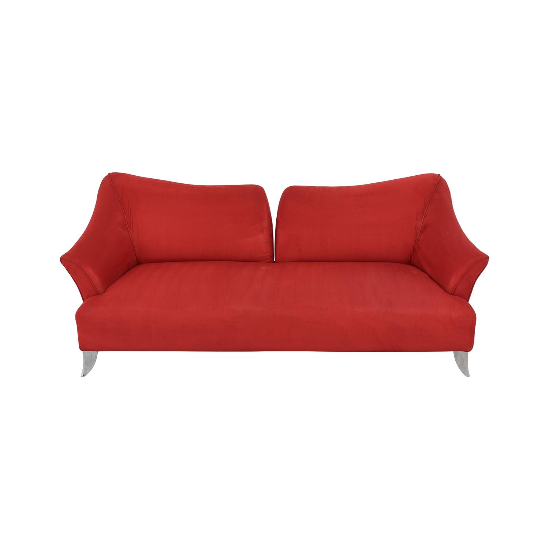 Red Split Back Sofa Sofas