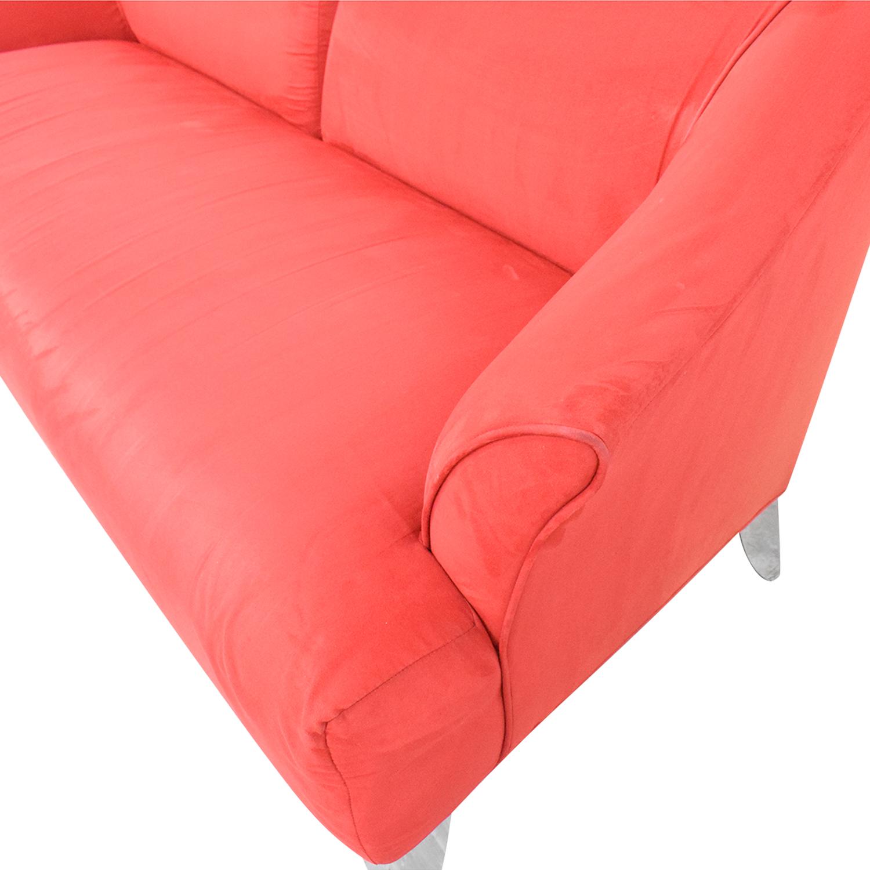 Red Split Back Sofa dimensions