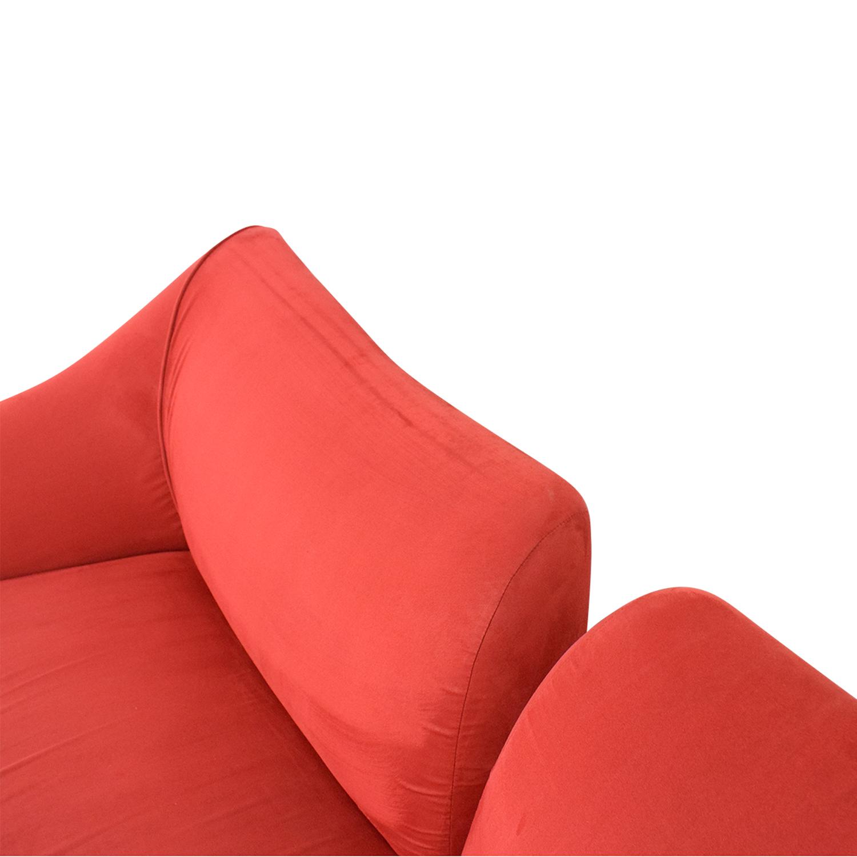 Red Split Back Sofa nyc