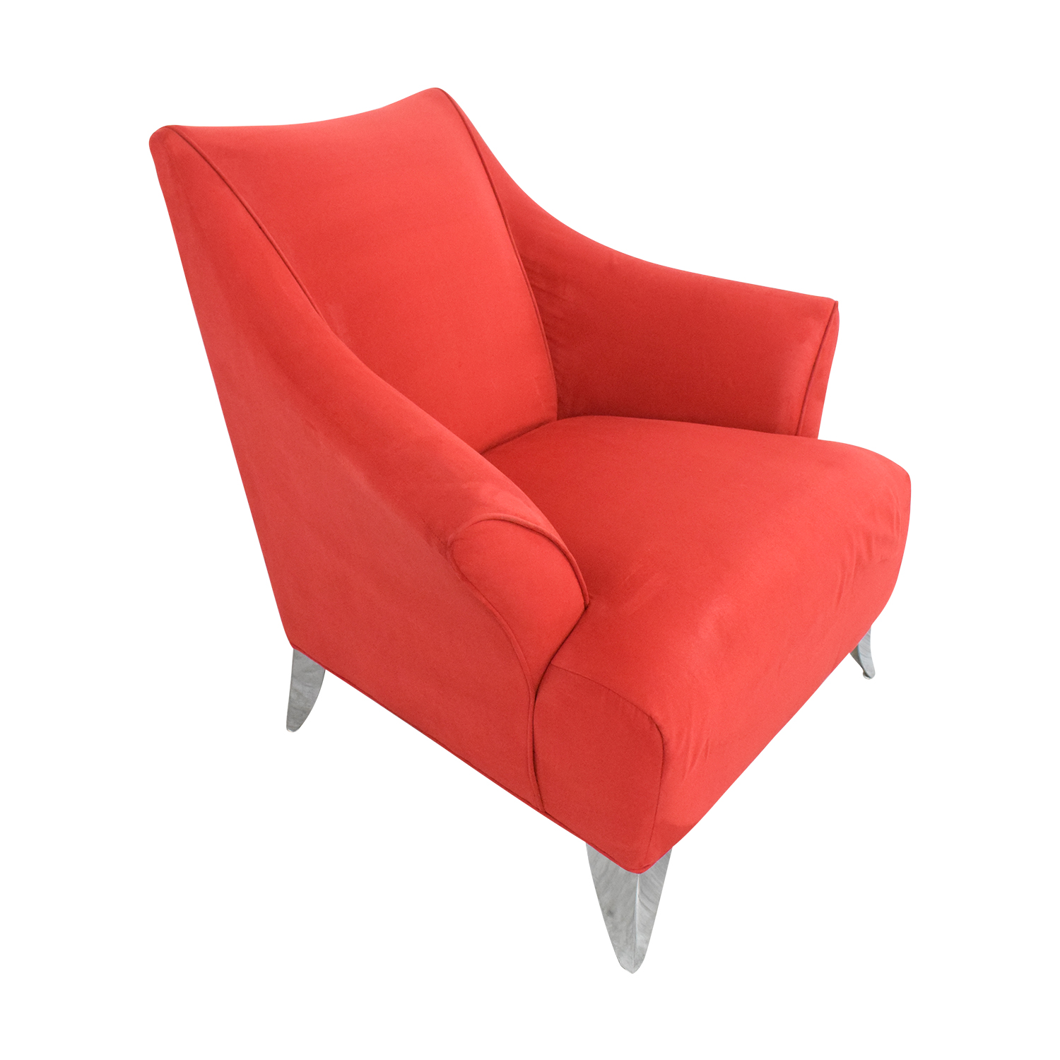 Red Accent Chair Red
