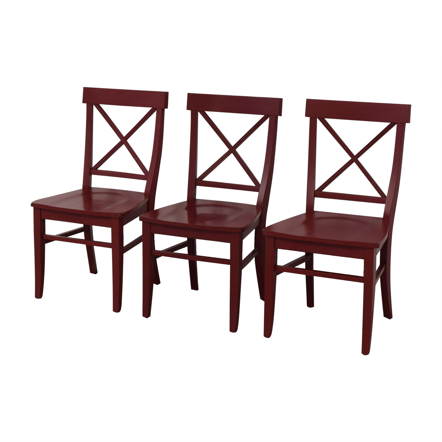 Pottery Barn Pottery Barn Stafano Dinner Chairs red