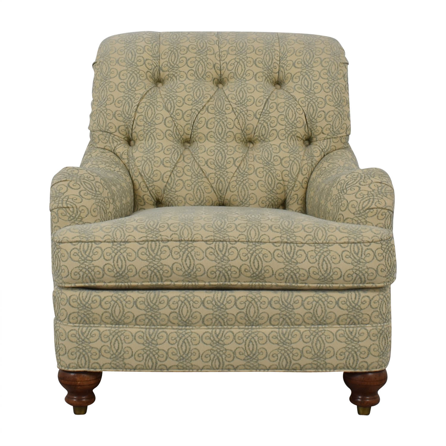 buy Ethan Allen Mercer Tufted Accent Chair Ethan Allen Accent Chairs