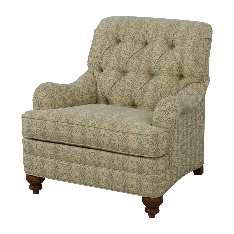 shop Ethan Allen Mercer Tufted Accent Chair Ethan Allen Accent Chairs