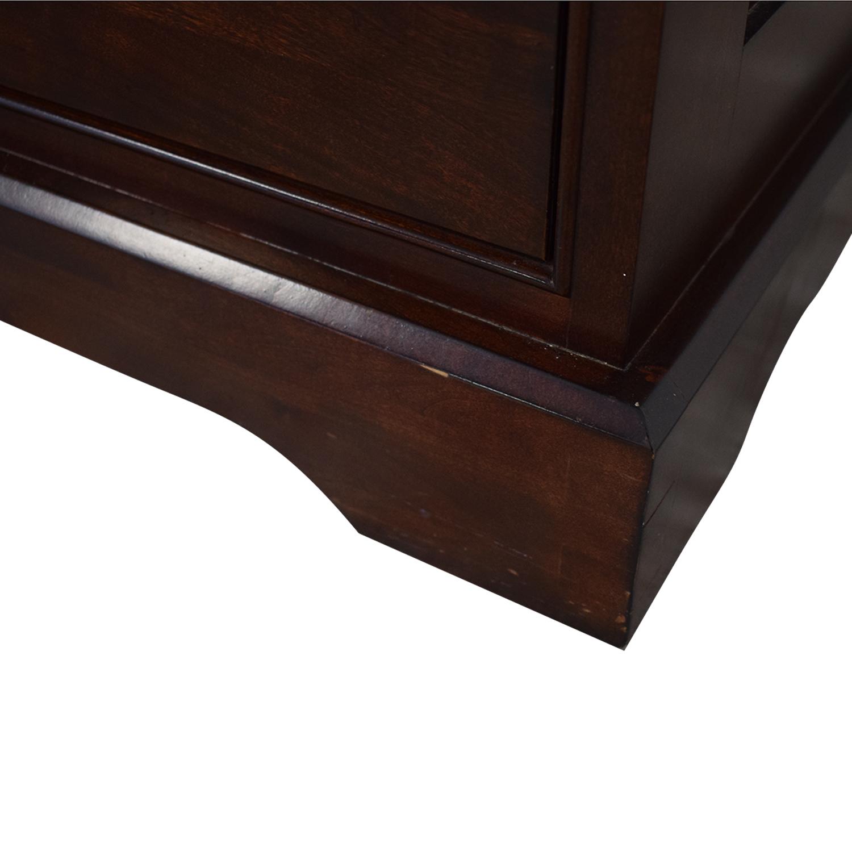 buy Restoration Hardware Restoration Hardware Marston Cherry Wood Eight-Drawer Dresser online