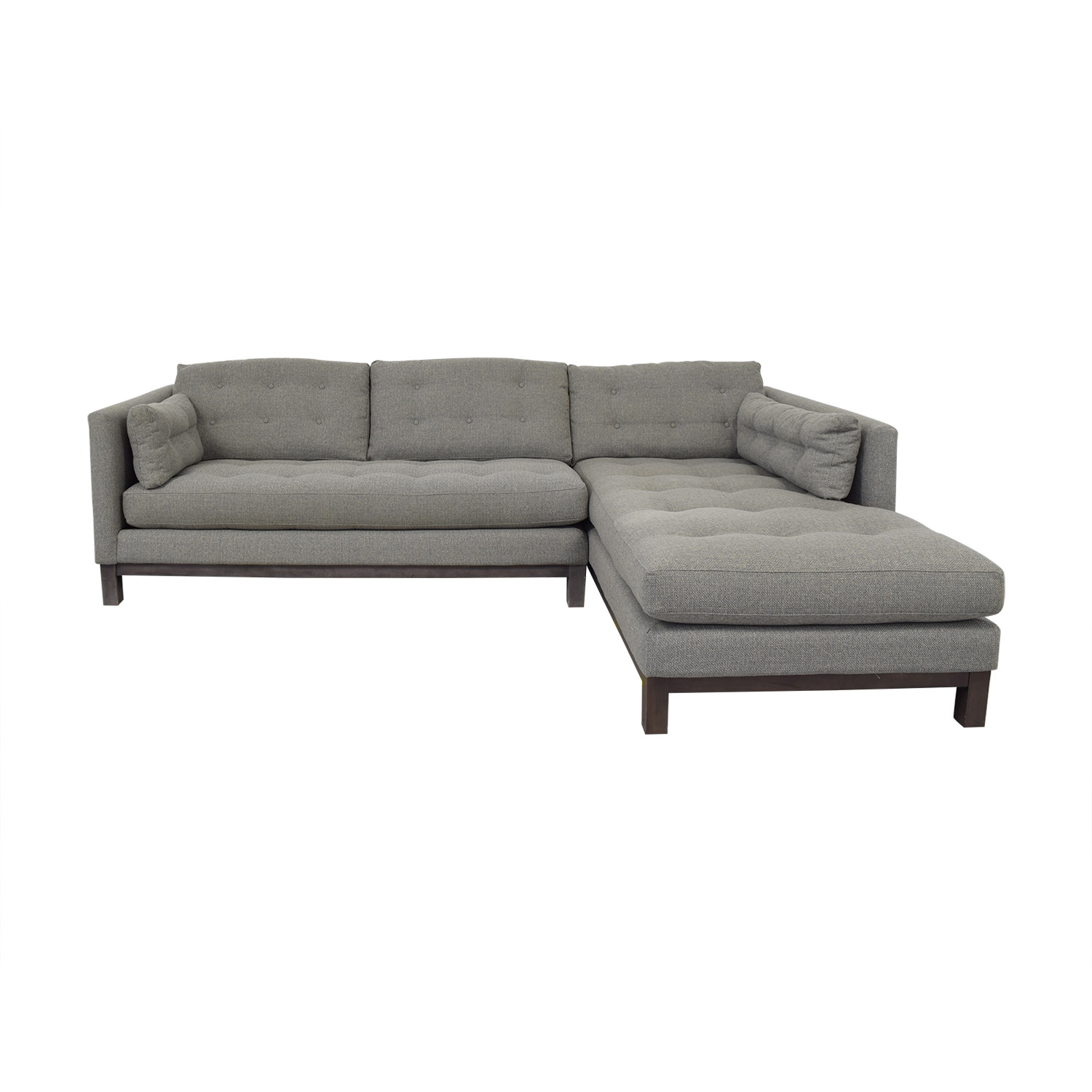 76% OFF - McCreary Modern McCreary Modern Sectional Chaise Sofa / Sofas
