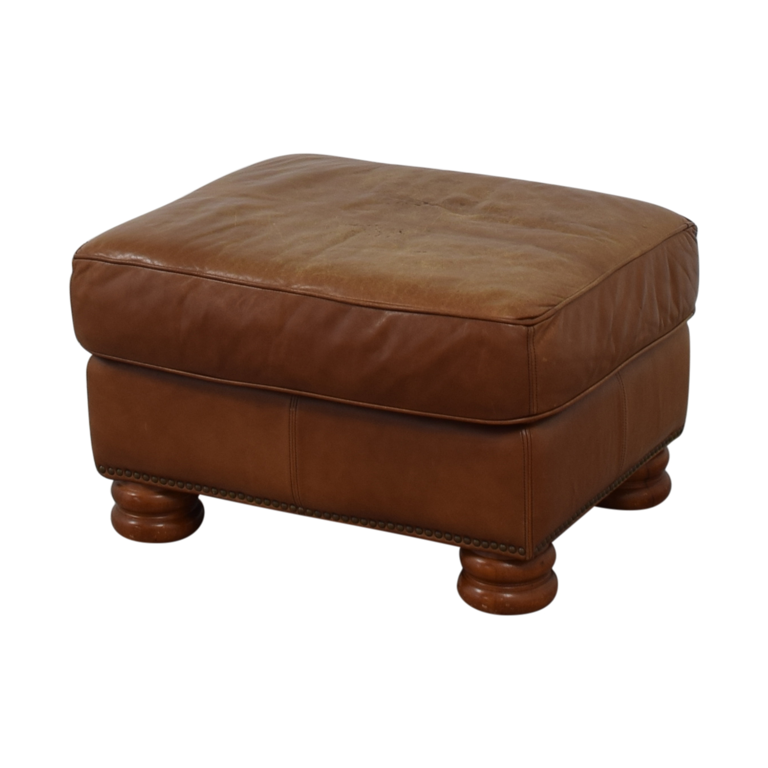 Thomasville Thomasville Brown Leather Ottoman nj
