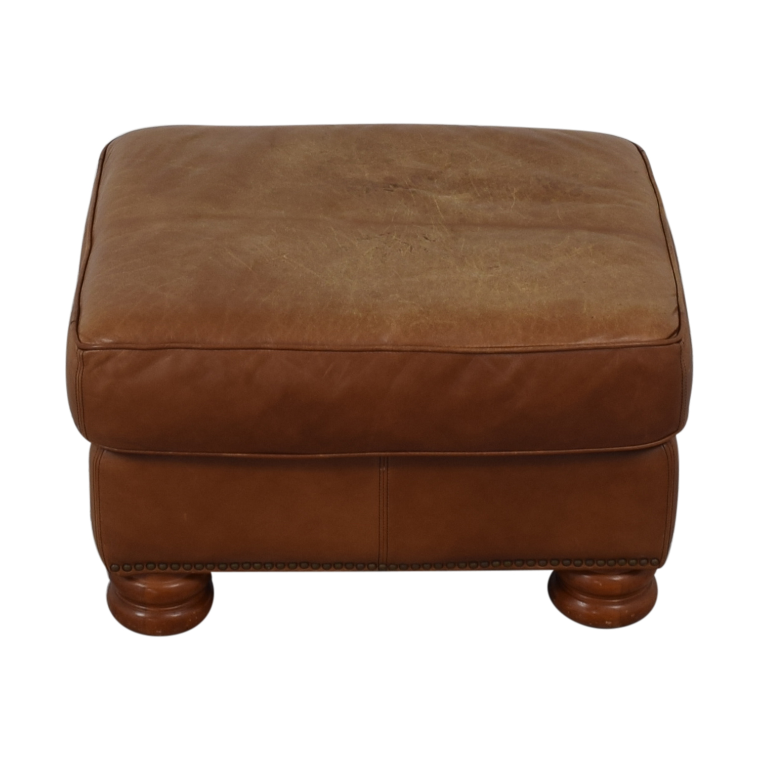 Thomasville Thomasville Brown Leather Ottoman brown