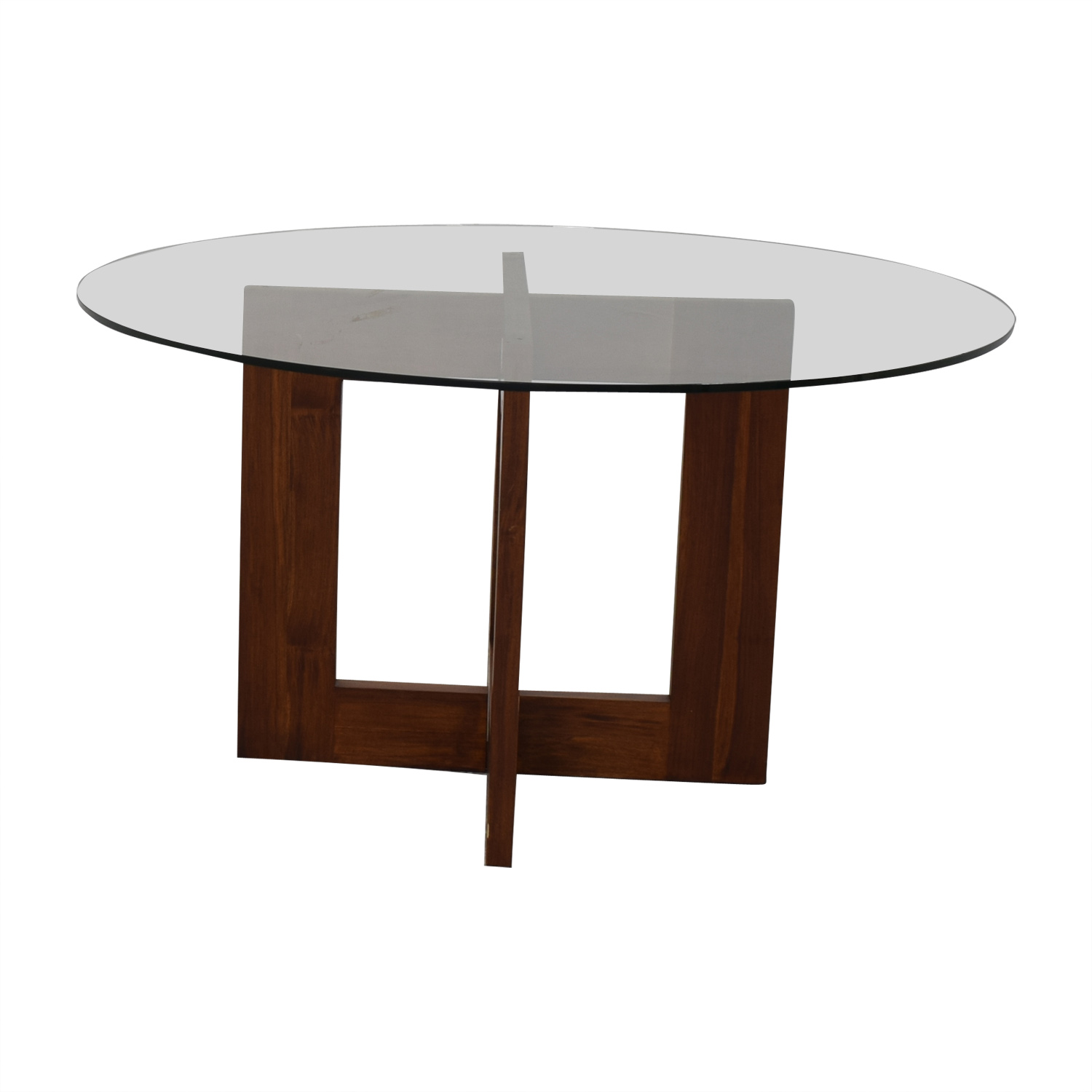 Crate & Barrel Crate & Barrel Round Glass Table coupon