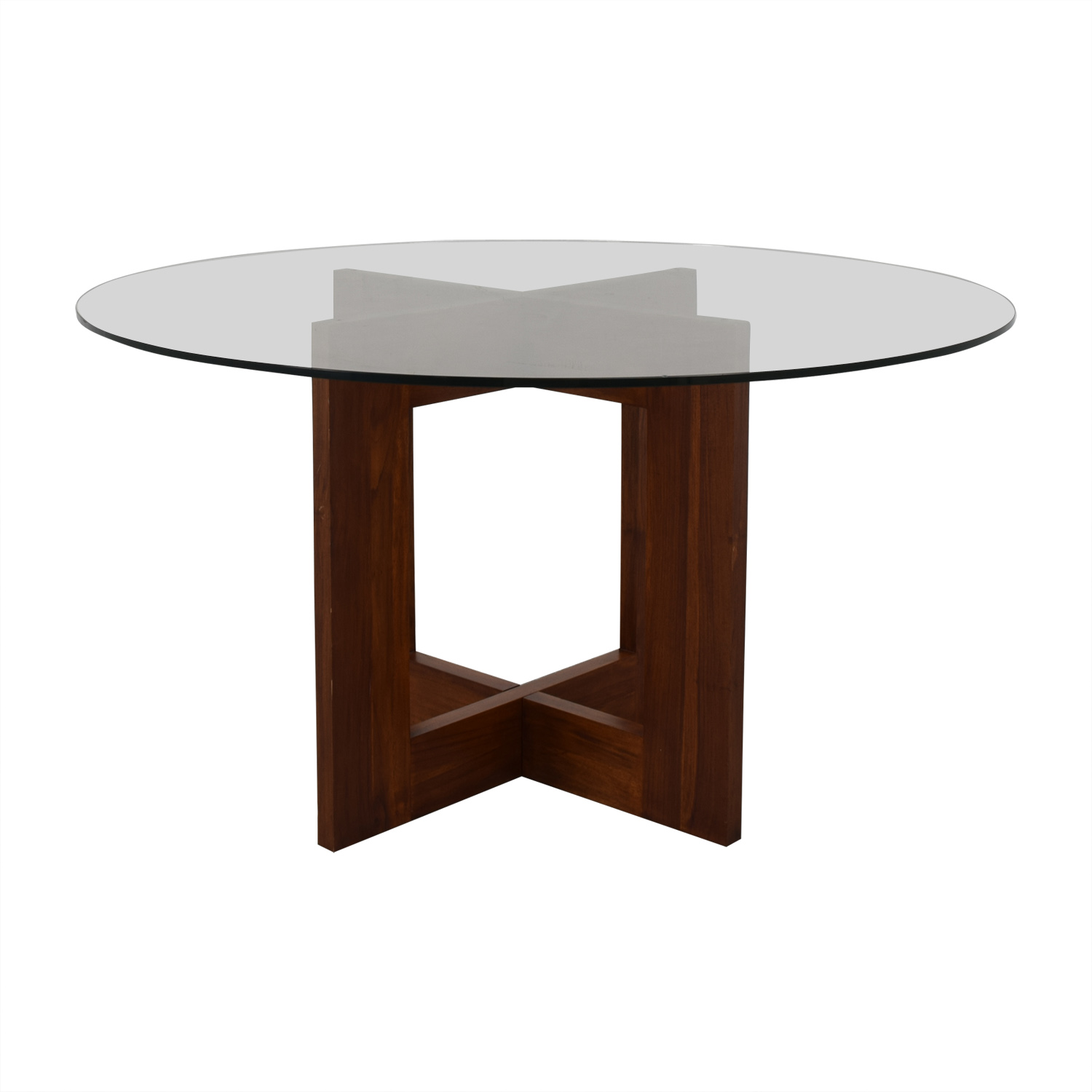 shop Crate & Barrel Round Glass Table Crate & Barrel Dinner Tables