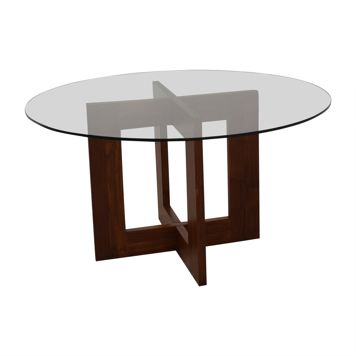 buy Crate & Barrel Crate & Barrel Round Glass Table online