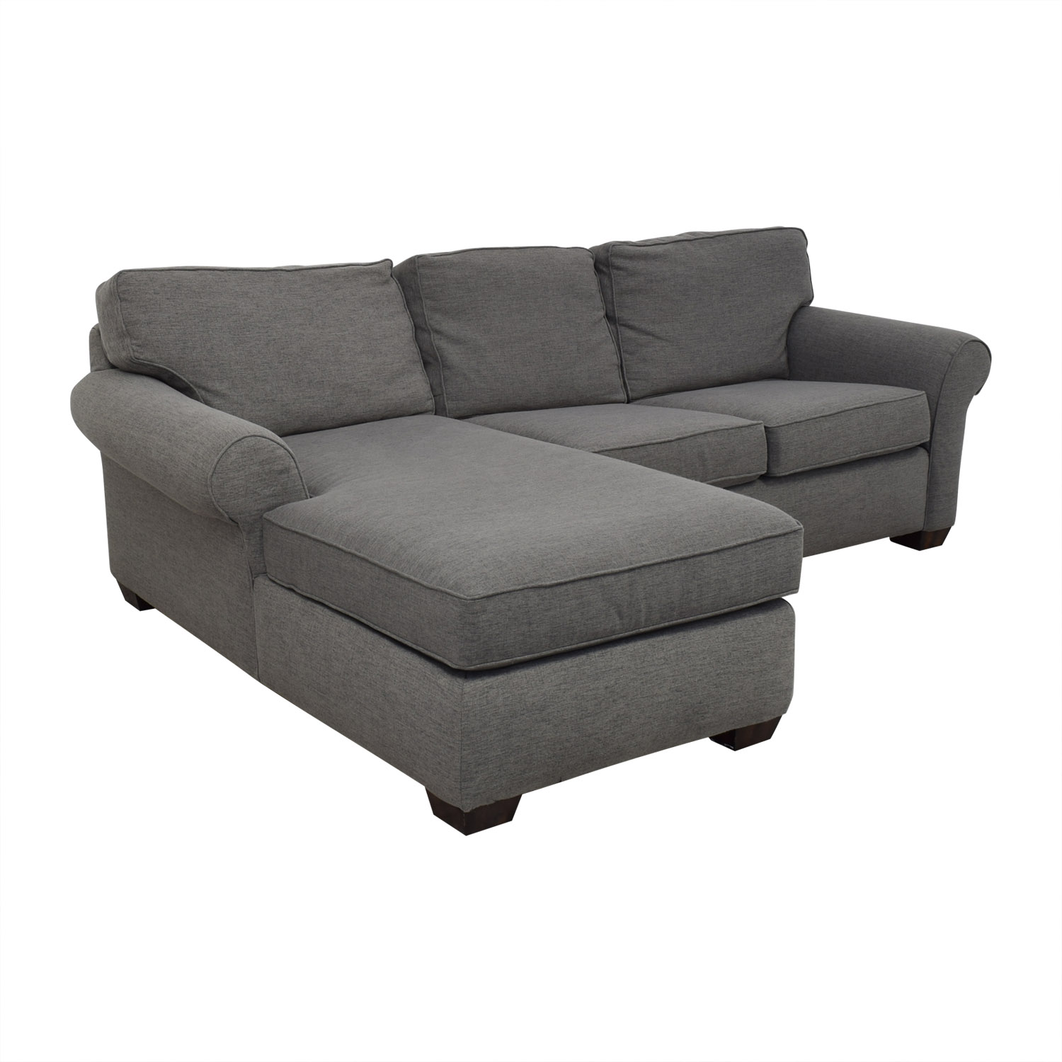 Flexsteel Grey Sectional Sofa with Chaise Flexsteel