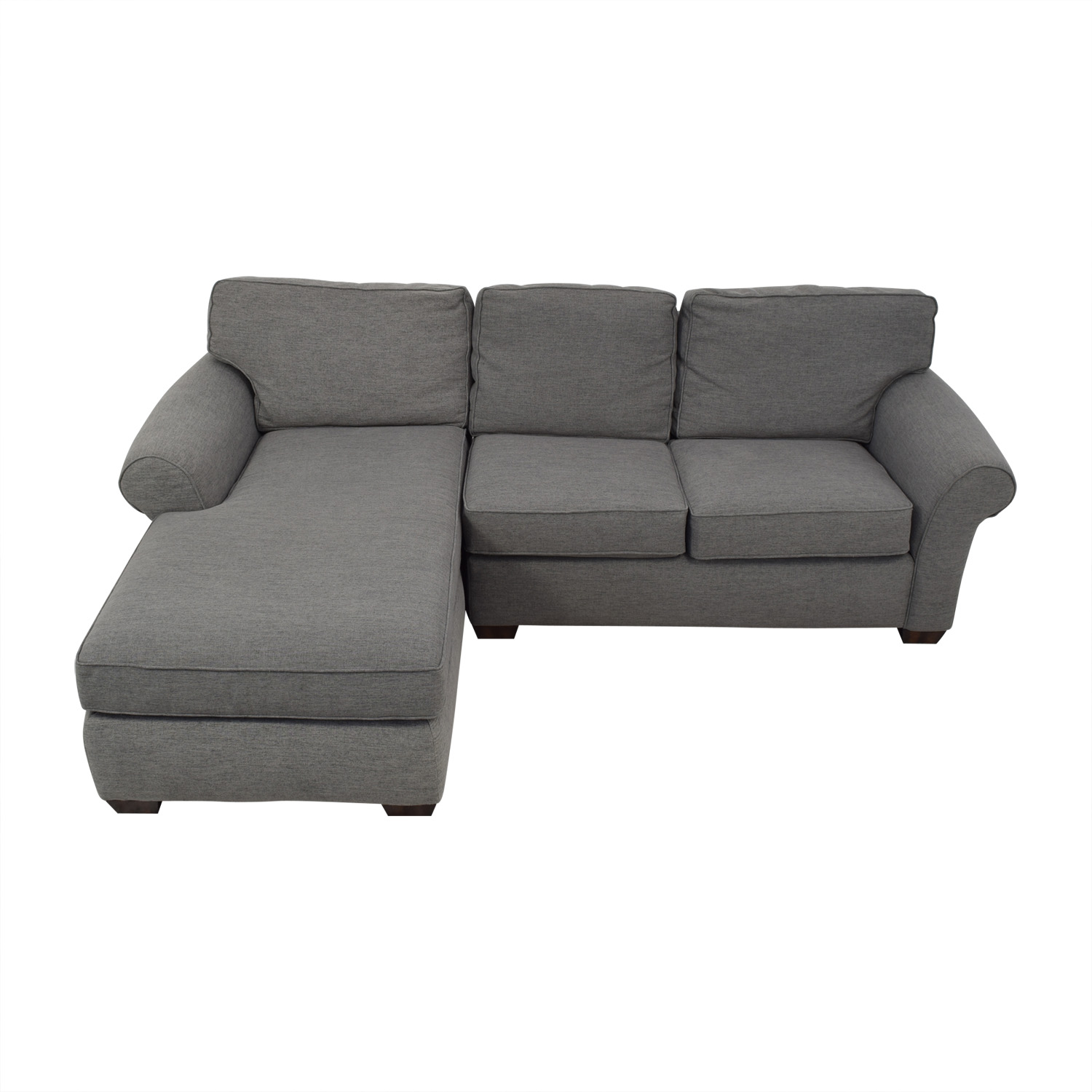 Flexsteel Flexsteel Grey Sectional Sofa with Chaise on sale