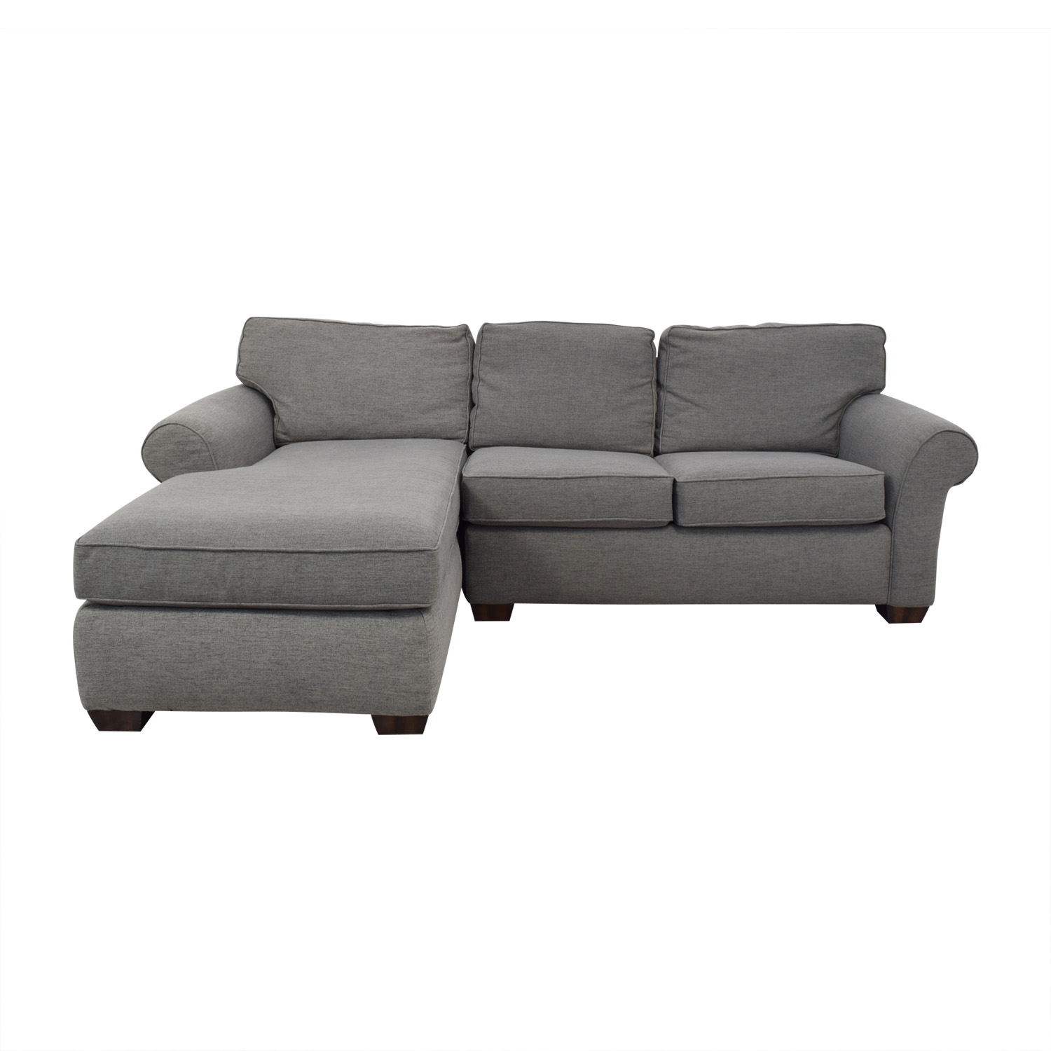 68% OFF - Flexsteel Flexsteel Grey Sectional Sofa with Chaise / Sofas