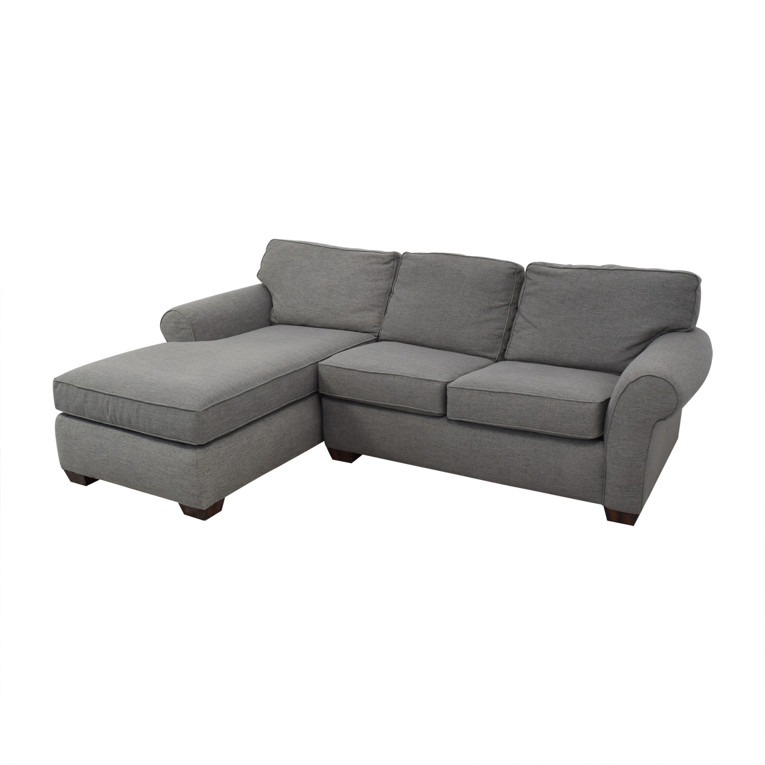 shop Flexsteel Grey Sectional Sofa with Chaise Flexsteel Sofas