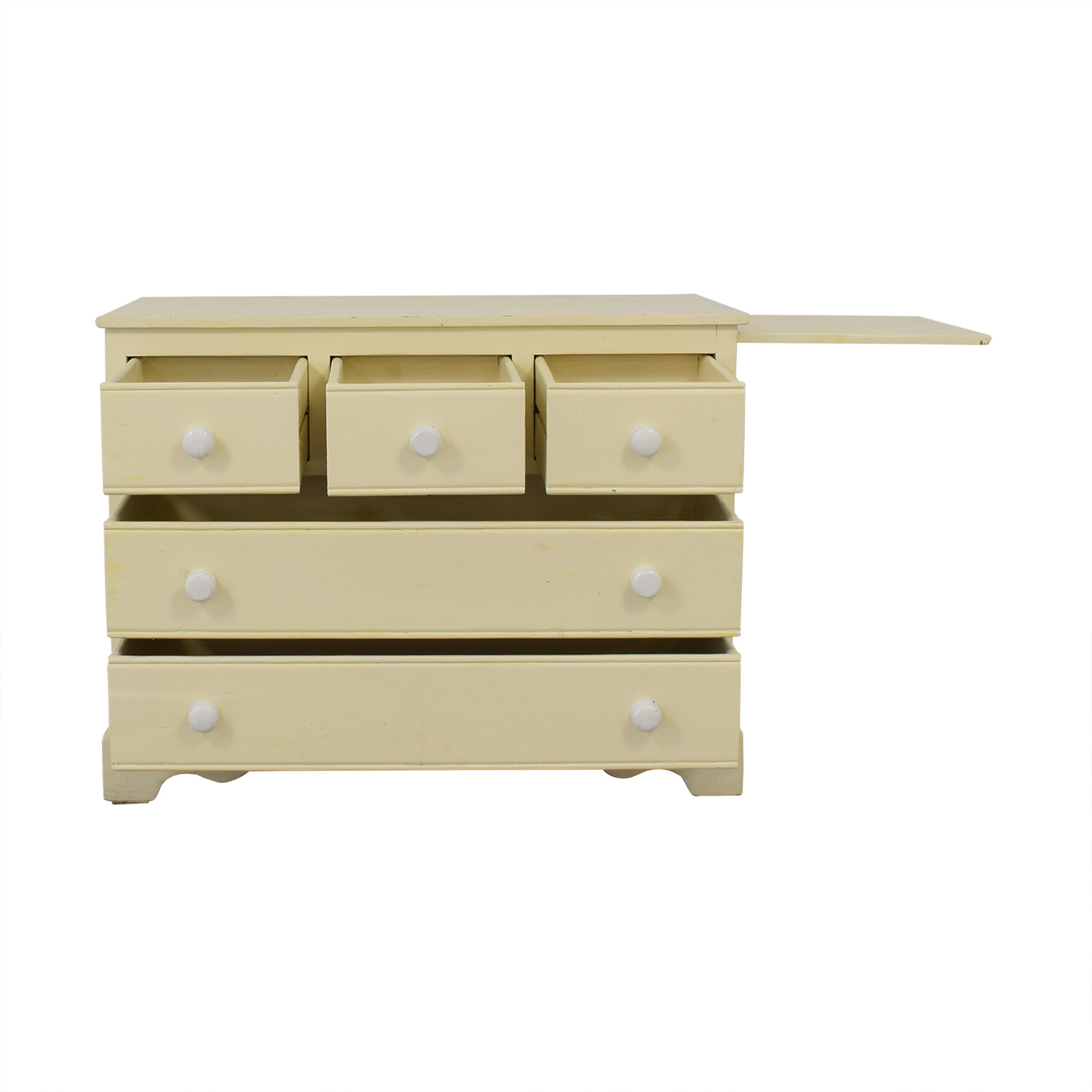 Pottery Barn Pottery Barn Five Drawer Dresser with Extendable Table nj