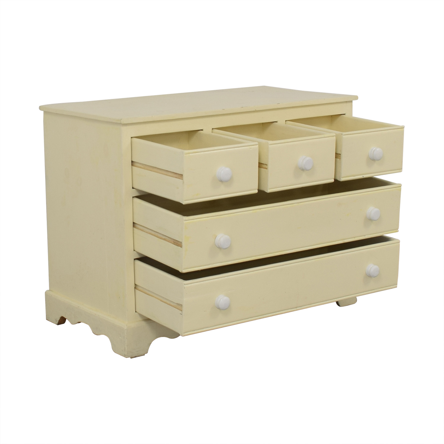 Pottery Barn Five Drawer Dresser with Extendable Table sale