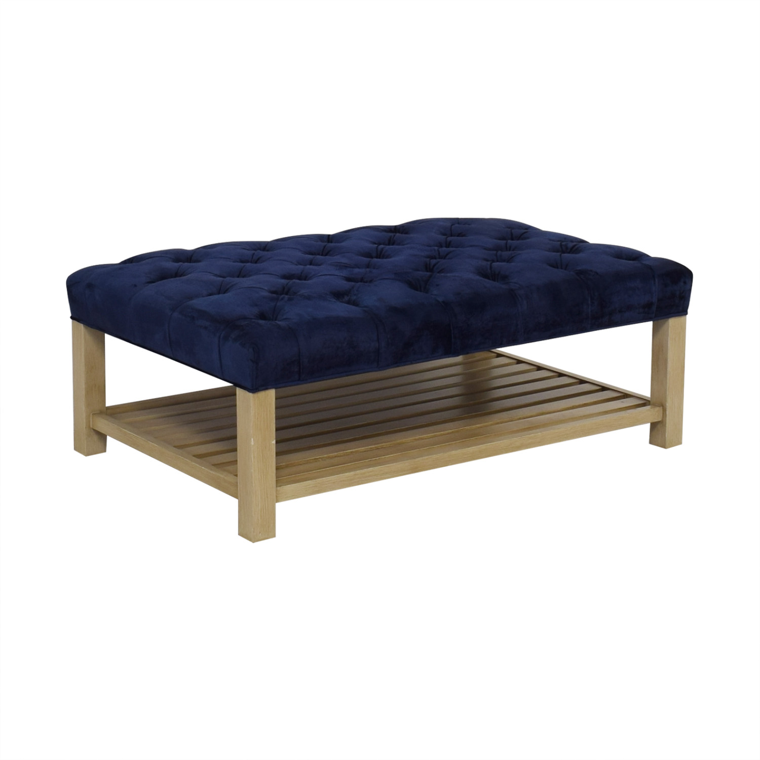 buy Arhaus Tufted Coffee Table with Trays Arhaus Tables