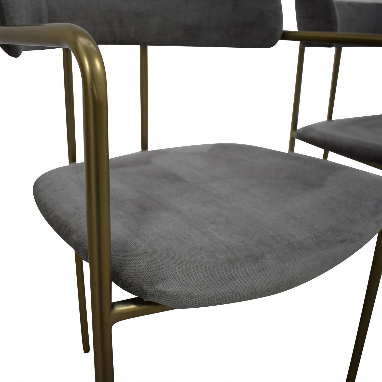 West Elm West Elm Lenox Velvet Dining Chairs on sale