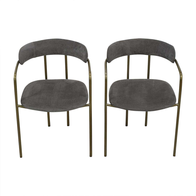 West Elm West Elm Lenox Velvet Dining Chairs discount