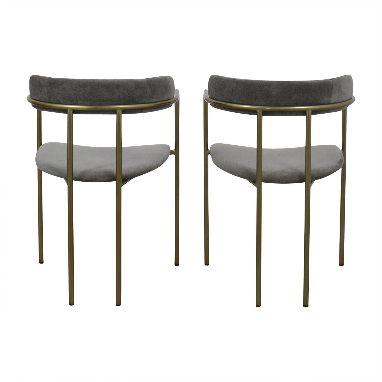 buy West Elm West Elm Lenox Velvet Dining Chairs online