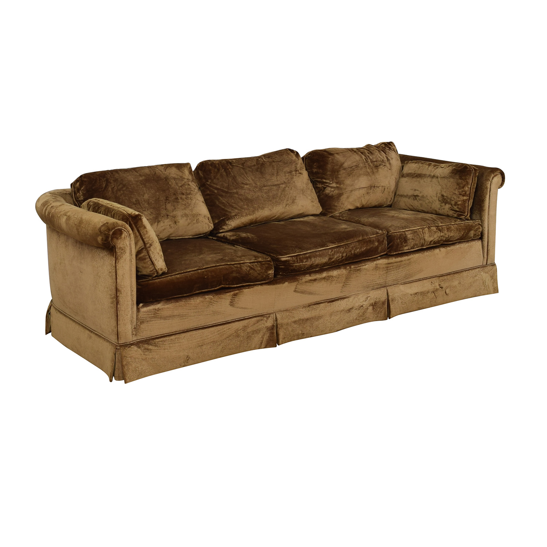 buy Baker Furniture Three Cushion Living Room Sofa Baker Furniture Classic Sofas