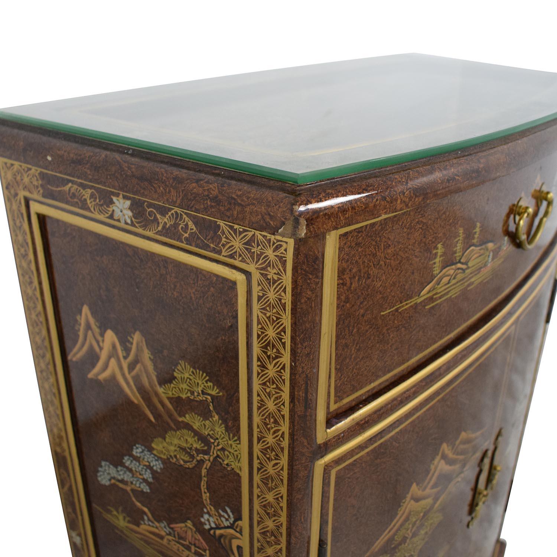 shop Chinese Glass Top Storage Dresser  Storage